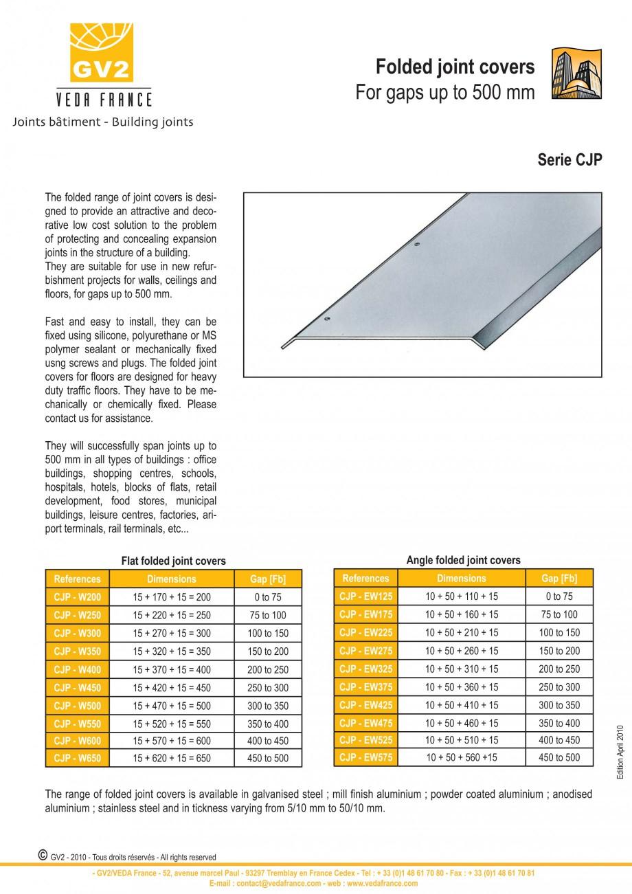 Pagina 7 - Profile de dilatatie pentru pereti, pardoseli  VEDA Joint Covers & compression...