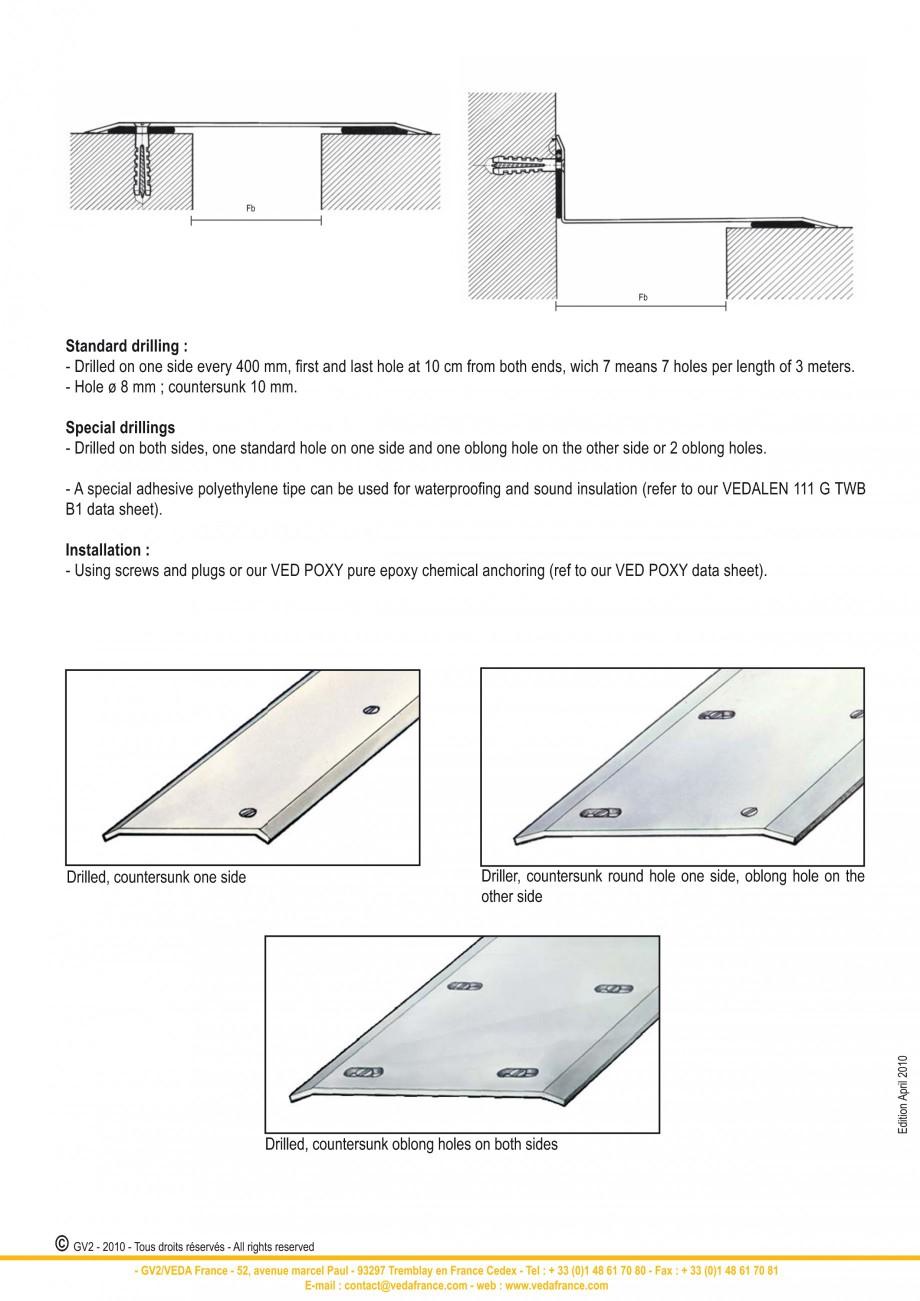 Pagina 8 - Profile de dilatatie pentru pereti, pardoseli  VEDA Joint Covers & compression...