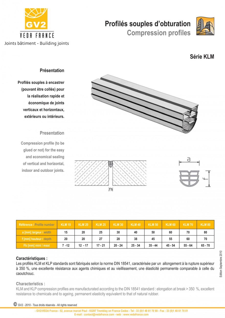 Pagina 9 - Profile de dilatatie pentru pereti, pardoseli  VEDA Joint Covers & compression...