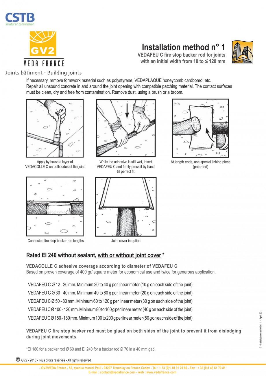 Pagina 7 - Protectie la foc pentru rosturi in pardoseli VEDA Fire stop systems Fisa tehnica Engleza ...