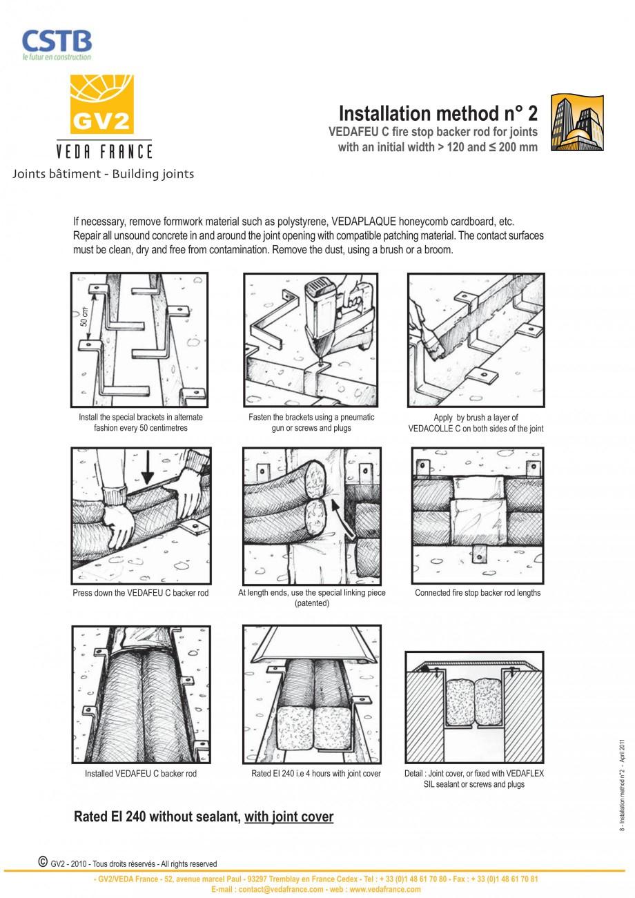 Pagina 8 - Protectie la foc pentru rosturi in pardoseli VEDA Fire stop systems Fisa tehnica Engleza ...