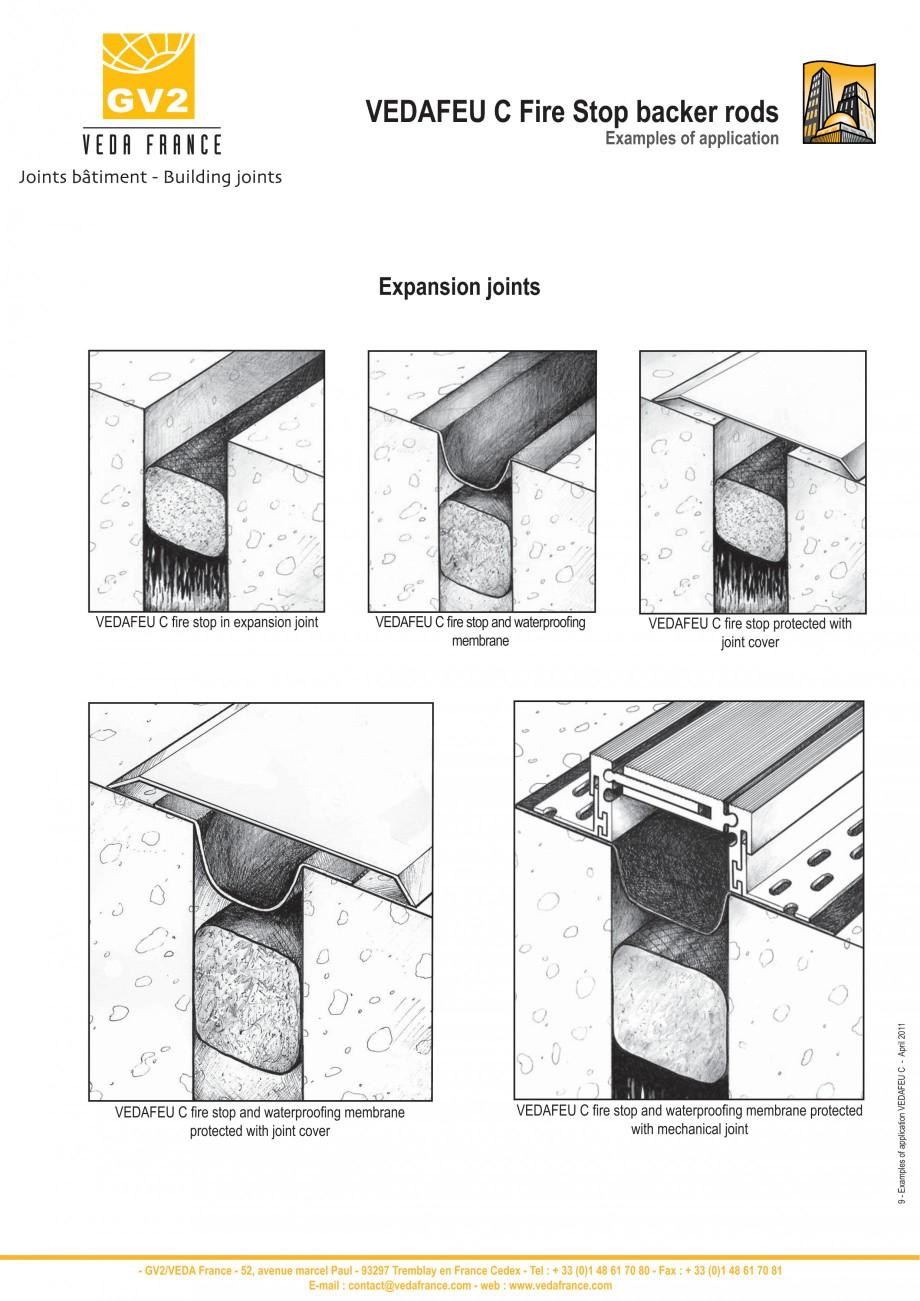 Pagina 9 - Protectie la foc pentru rosturi in pardoseli VEDA Fire stop systems Fisa tehnica Engleza ...