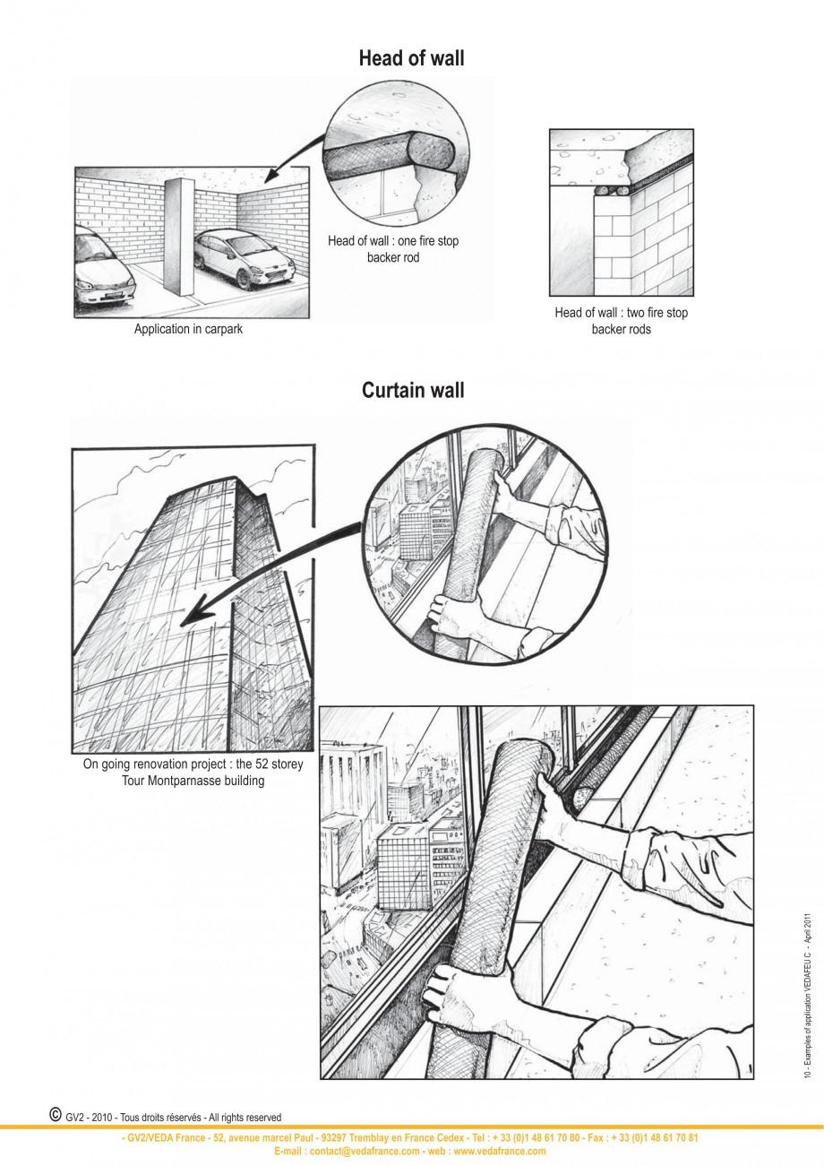 Pagina 10 - Protectie la foc pentru rosturi in pardoseli VEDA Fire stop systems Fisa tehnica Engleza...