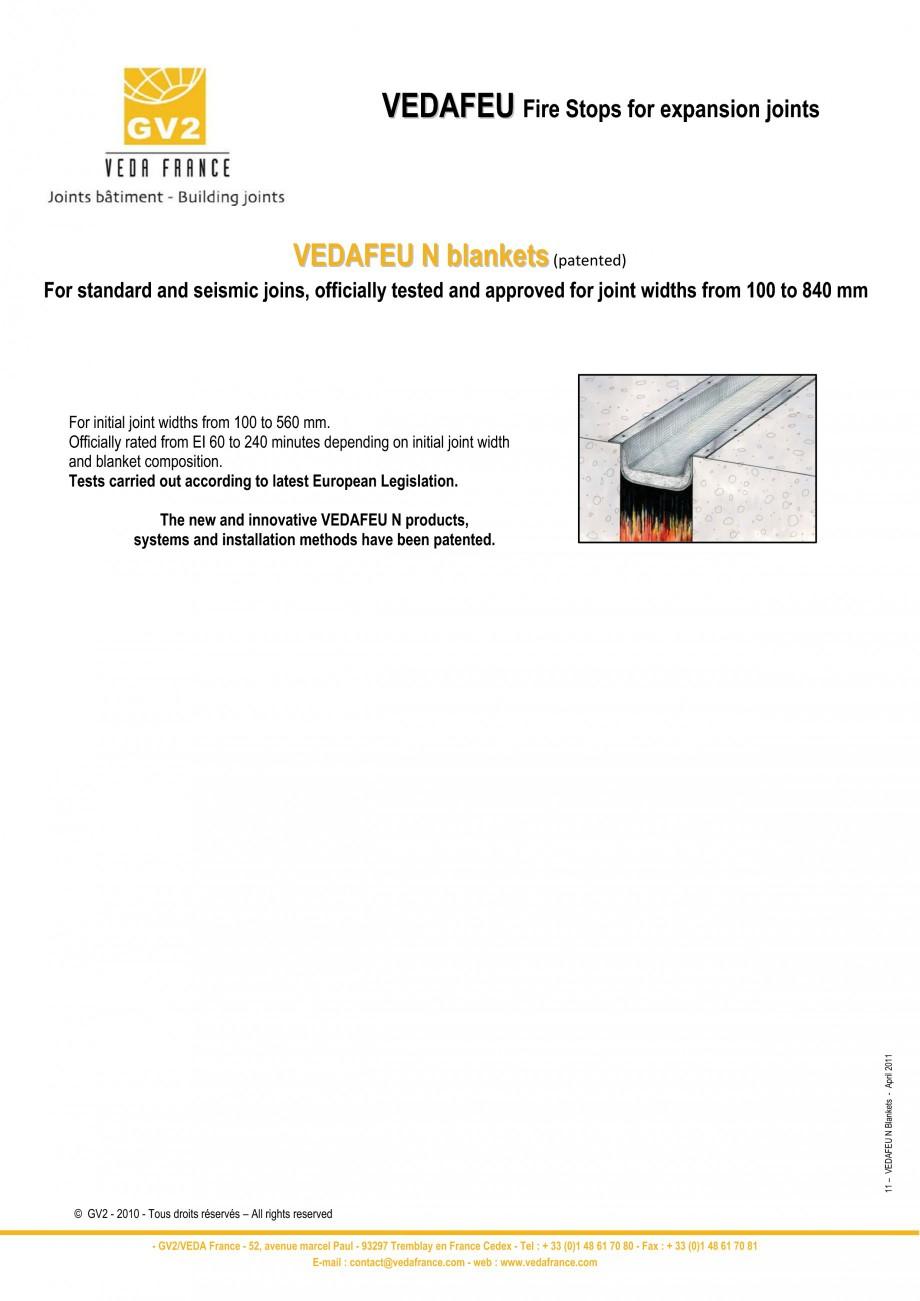 Pagina 11 - Protectie la foc pentru rosturi in pardoseli VEDA Fire stop systems Fisa tehnica Engleza...