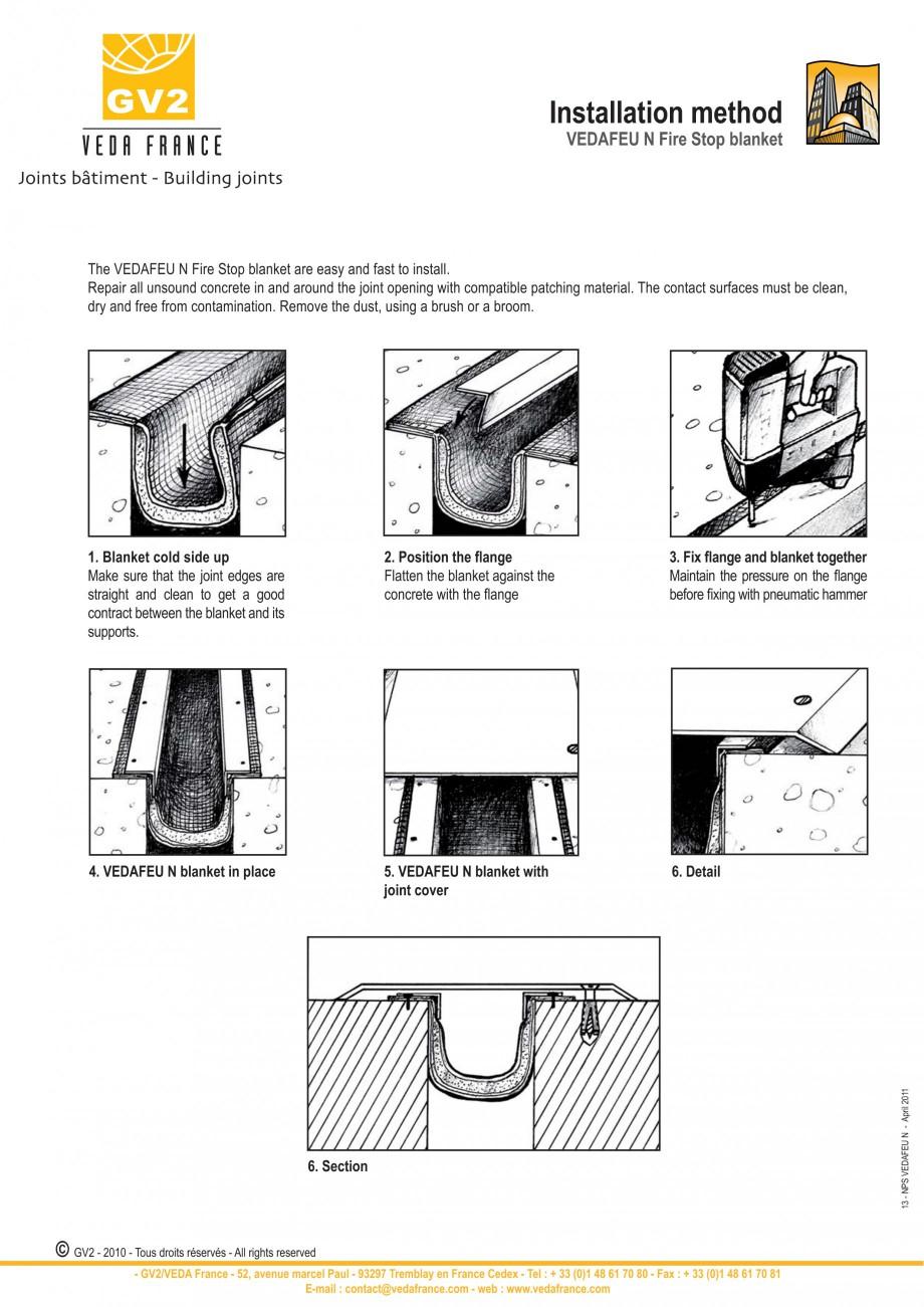 Pagina 13 - Protectie la foc pentru rosturi in pardoseli VEDA Fire stop systems Fisa tehnica Engleza...