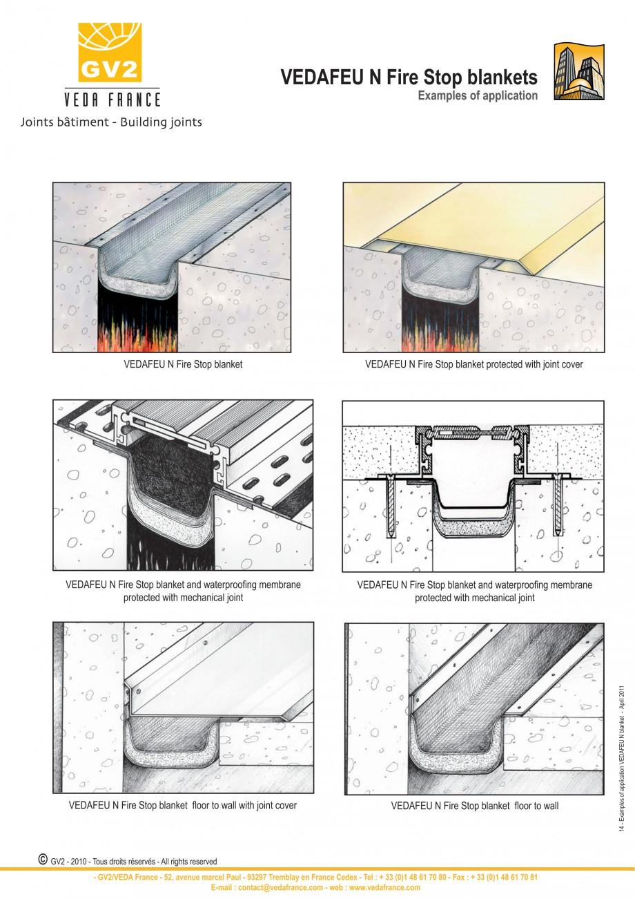 Pagina 14 - Protectie la foc pentru rosturi in pardoseli VEDA Fire stop systems Fisa tehnica Engleza...