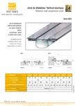 Profile de dilatatie pentru tavane si pereti VEDA - Facades and ceilings expansion joints