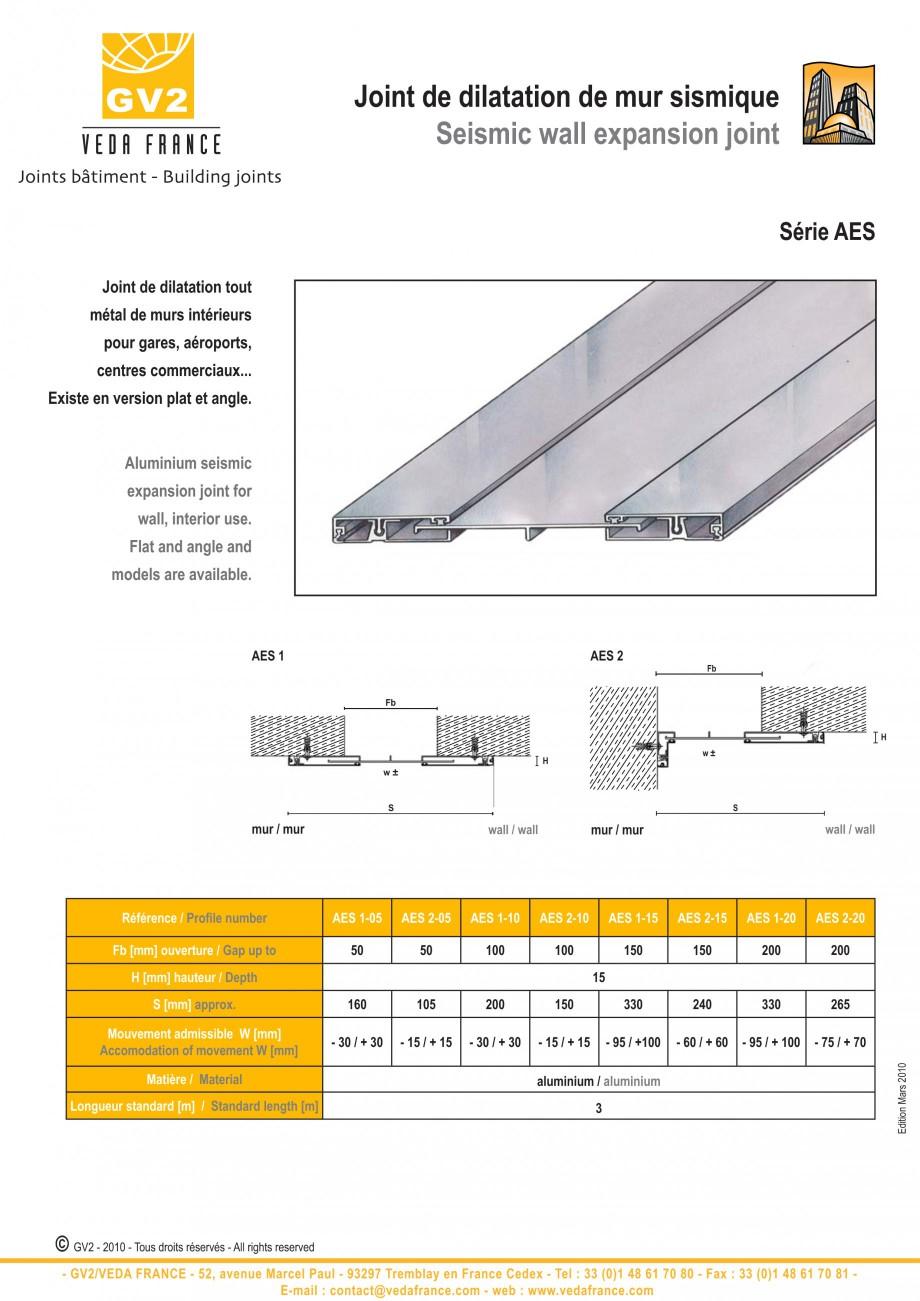 Pagina 2 - Profile de dilatatie pentru tavane si pereti VEDA Facades and ceilings expansion joints...