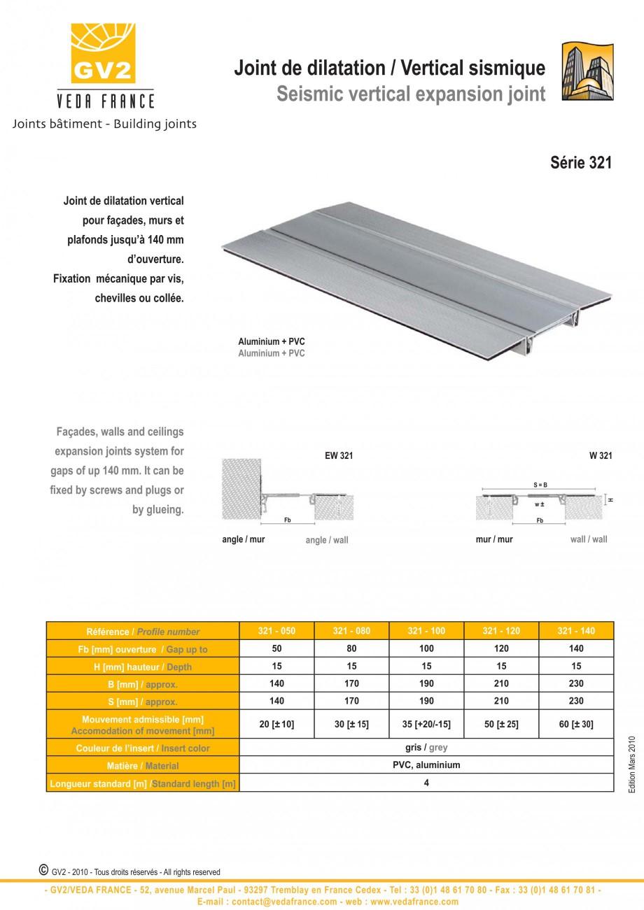 Pagina 5 - Profile de dilatatie pentru tavane si pereti VEDA Facades and ceilings expansion joints...