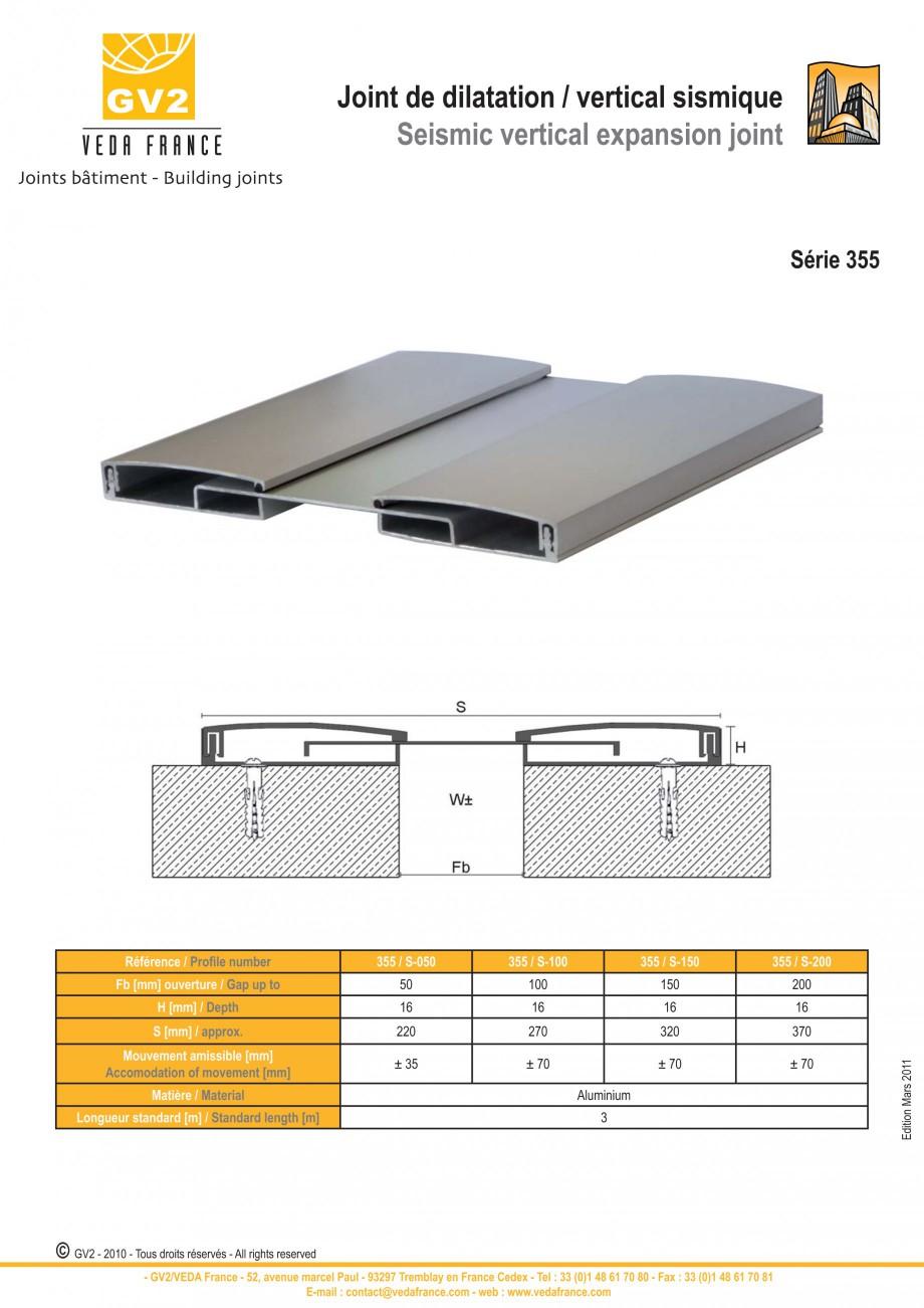 Pagina 8 - Profile de dilatatie pentru tavane si pereti VEDA Facades and ceilings expansion joints...