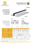 Profile de dilatatie metalice cu insertie flexibila pentru pardoseli VEDA - Floor expansion joints (Metal+flexible insert)