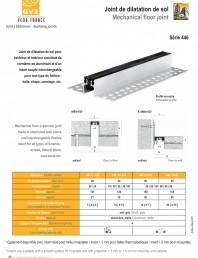 Profile de dilatatie metalice cu insertie flexibila pentru pardoseli