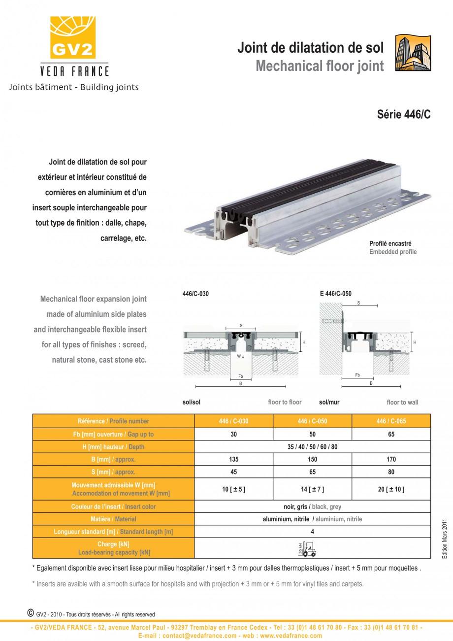 Pagina 3 - Profile de dilatatie metalice cu insertie flexibila pentru pardoseli VEDA Floor expansion...