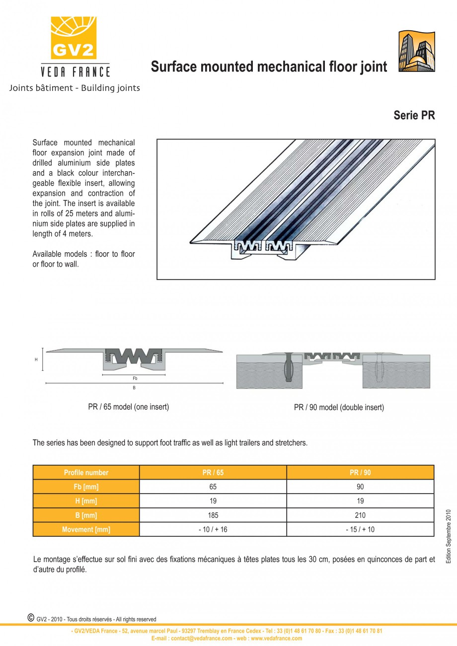 Pagina 4 - Profile de dilatatie metalice cu insertie flexibila pentru pardoseli VEDA Floor expansion...
