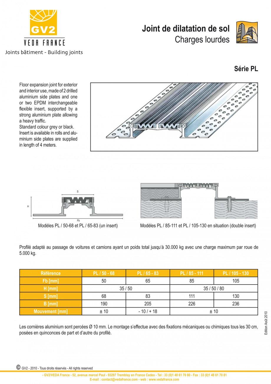 Pagina 5 - Profile de dilatatie metalice cu insertie flexibila pentru pardoseli VEDA Floor expansion...