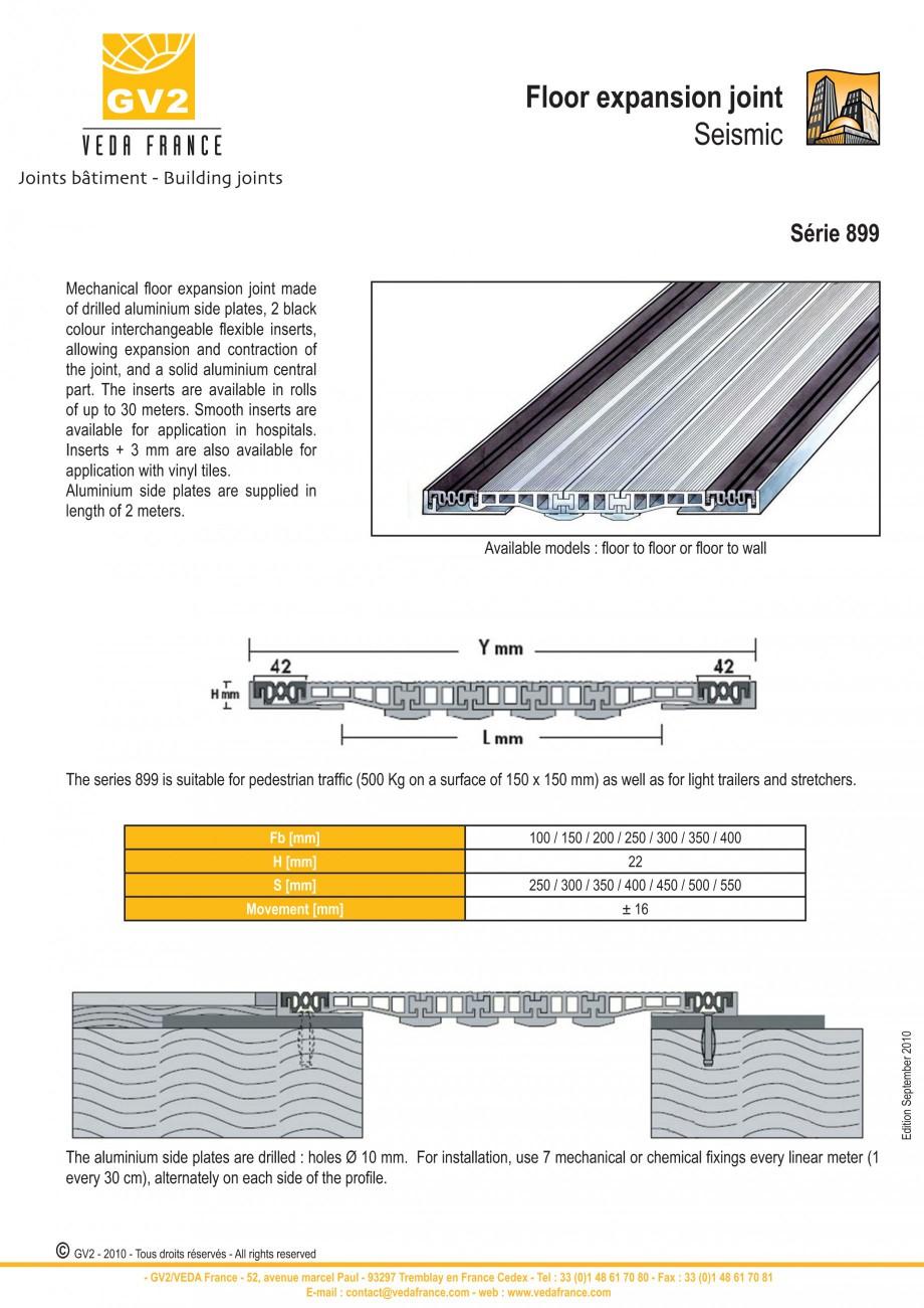 Pagina 7 - Profile de dilatatie metalice cu insertie flexibila pentru pardoseli VEDA Floor expansion...