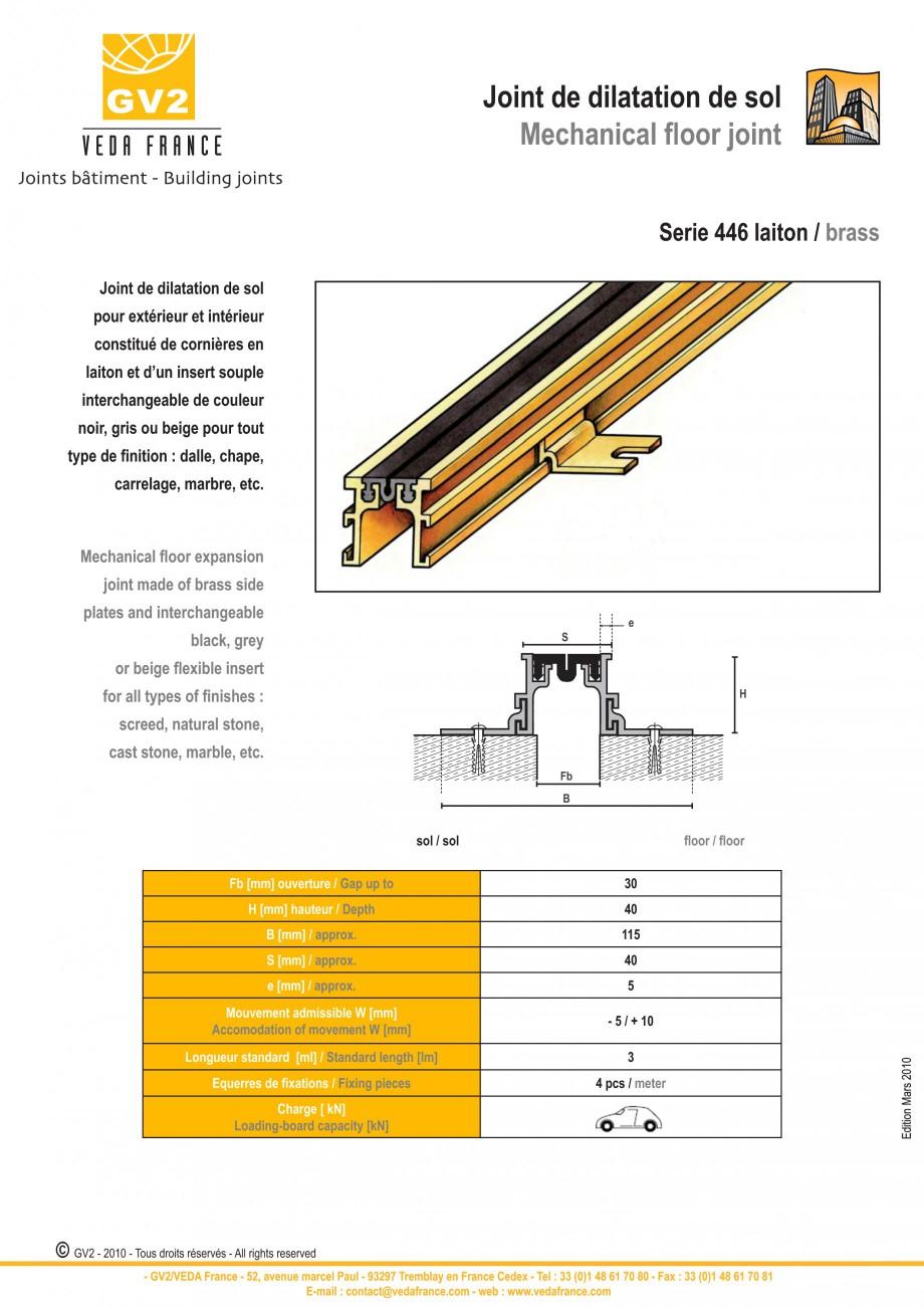 Pagina 10 - Profile de dilatatie metalice cu insertie flexibila pentru pardoseli VEDA Floor...