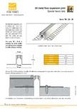 Profile de dilatatie metalice pentru pardoseli VEDA - Expansion joint (all metal)