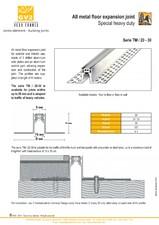 Profile de dilatatie metalice pentru pardoseli VEDA