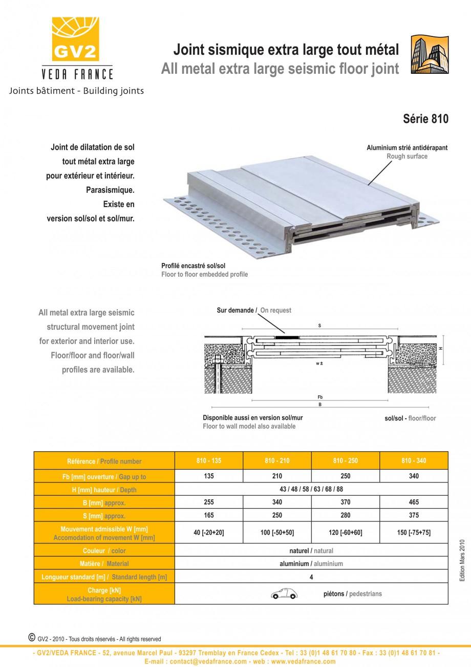 Pagina 8 - Profile de dilatatie metalice pentru pardoseli VEDA Expansion joint (all metal) Fisa...