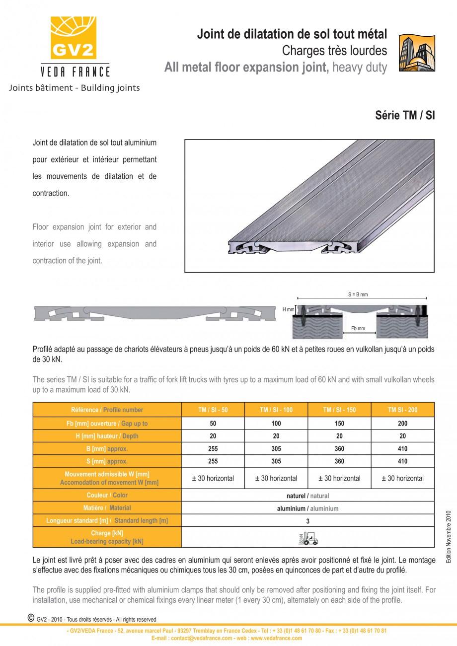 Pagina 10 - Profile de dilatatie metalice pentru pardoseli VEDA Expansion joint (all metal) Fisa...