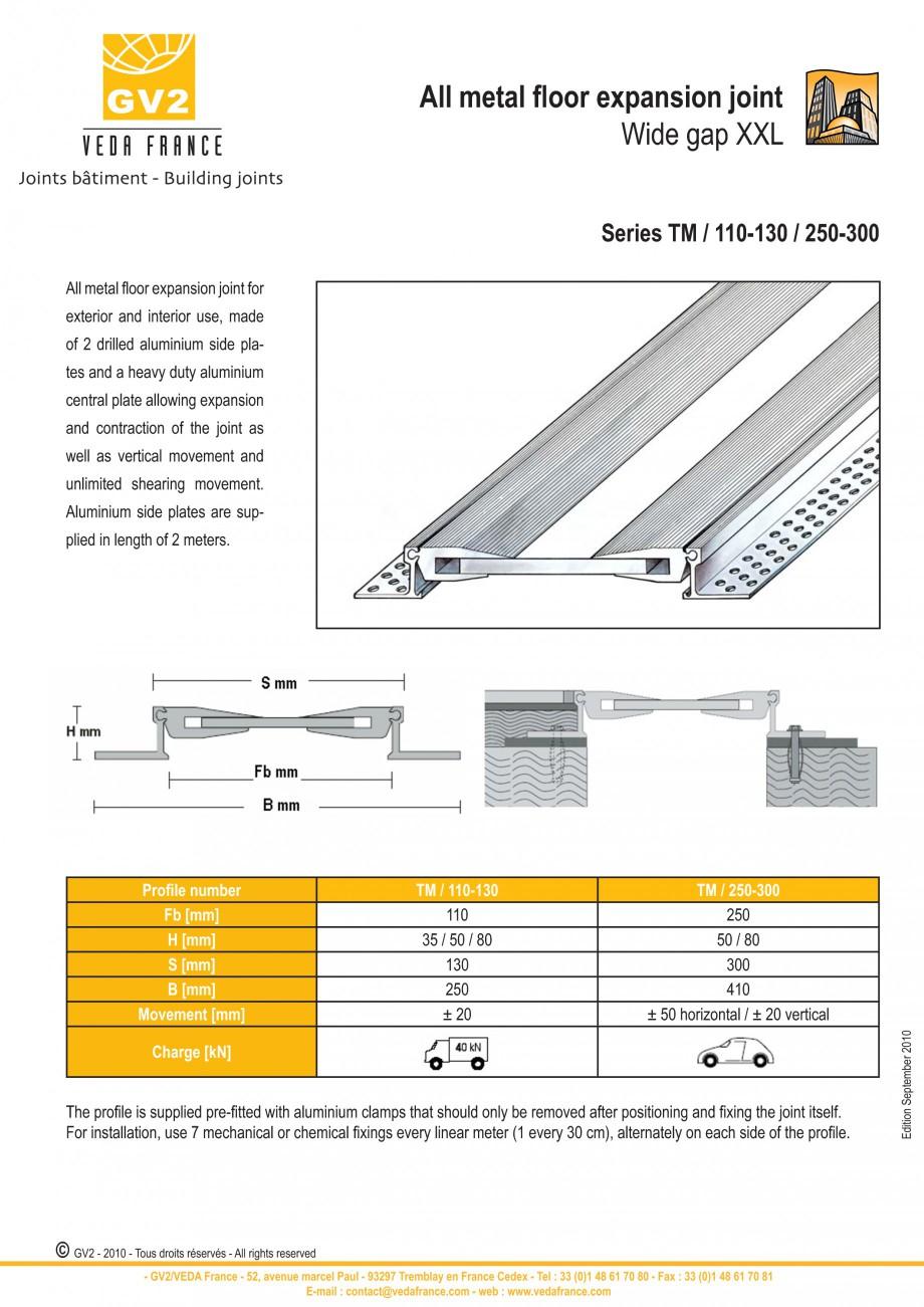 Pagina 11 - Profile de dilatatie metalice pentru pardoseli VEDA Expansion joint (all metal) Fisa...