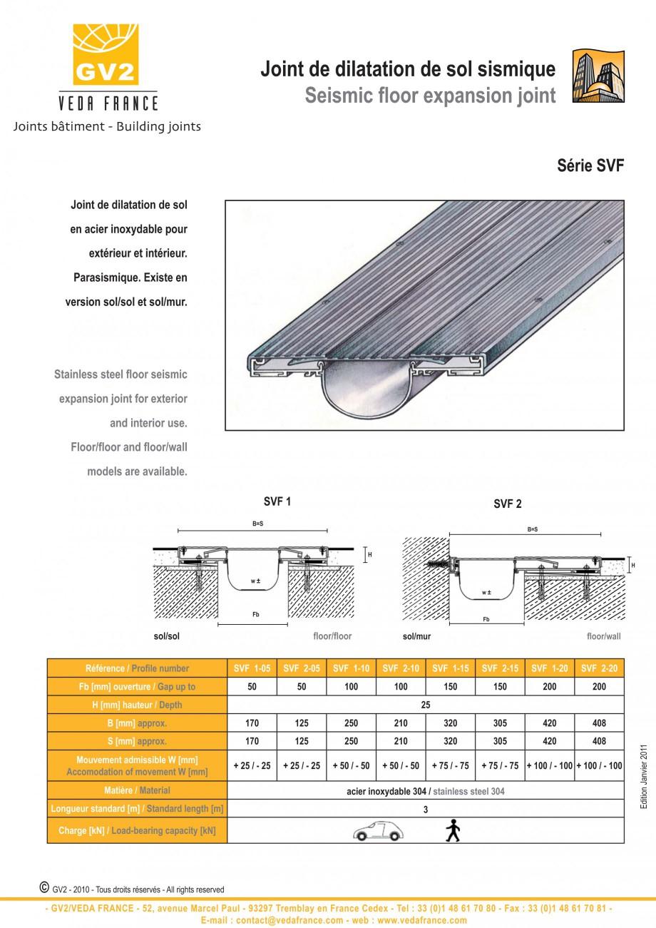 Pagina 13 - Profile de dilatatie metalice pentru pardoseli VEDA Expansion joint (all metal) Fisa...