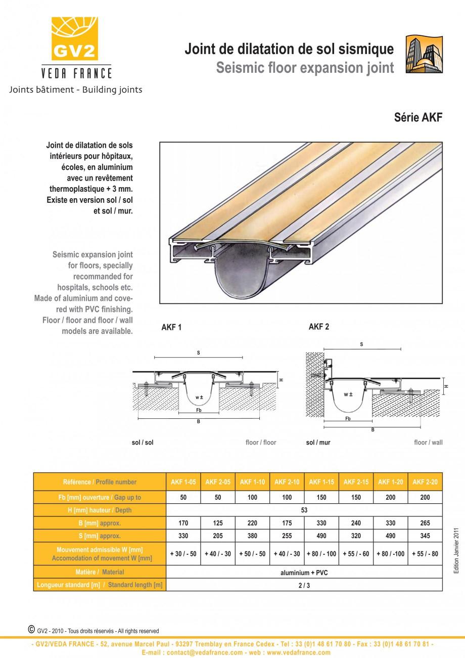 Pagina 14 - Profile de dilatatie metalice pentru pardoseli VEDA Expansion joint (all metal) Fisa...