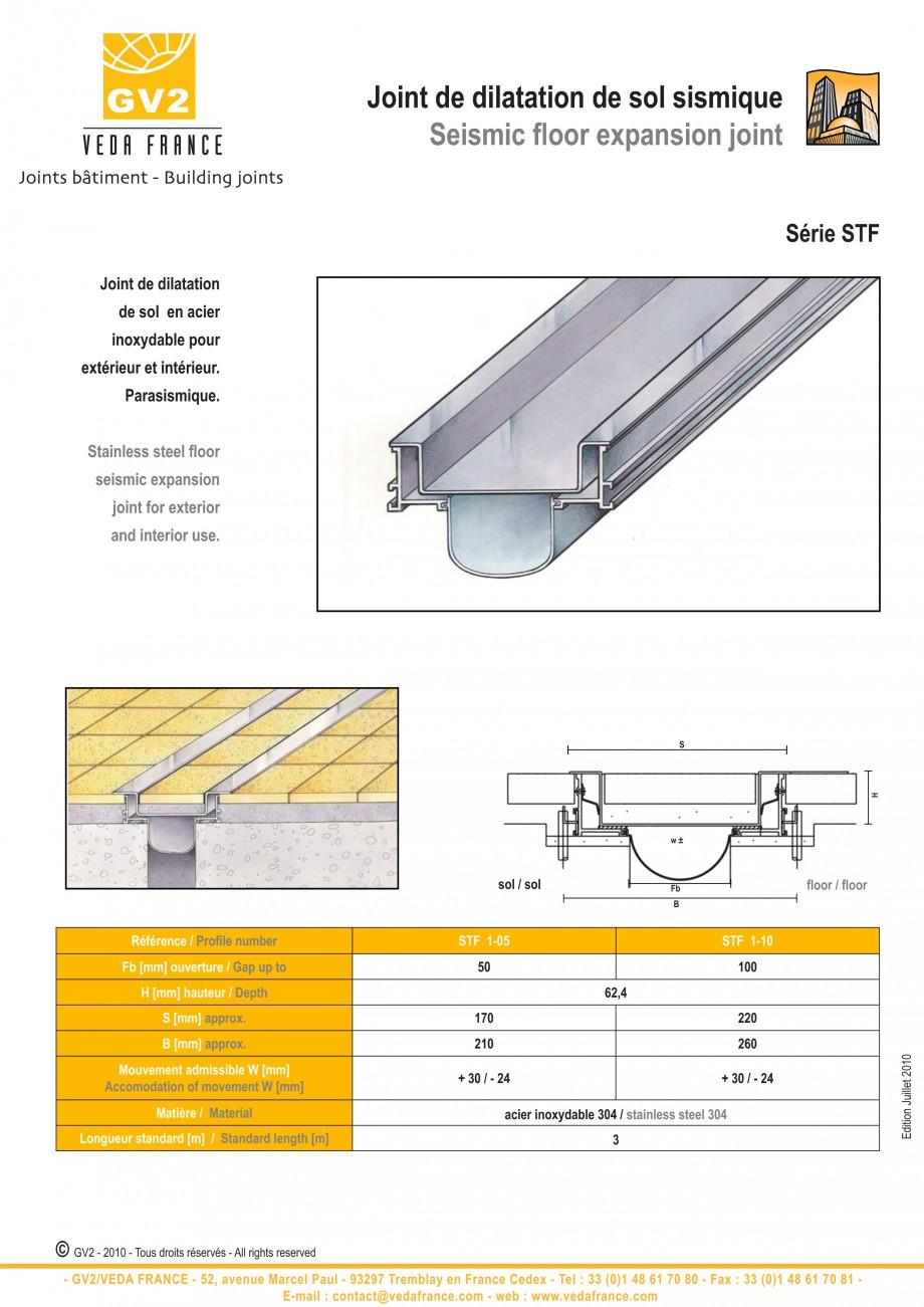Pagina 15 - Profile de dilatatie metalice pentru pardoseli VEDA Expansion joint (all metal) Fisa...