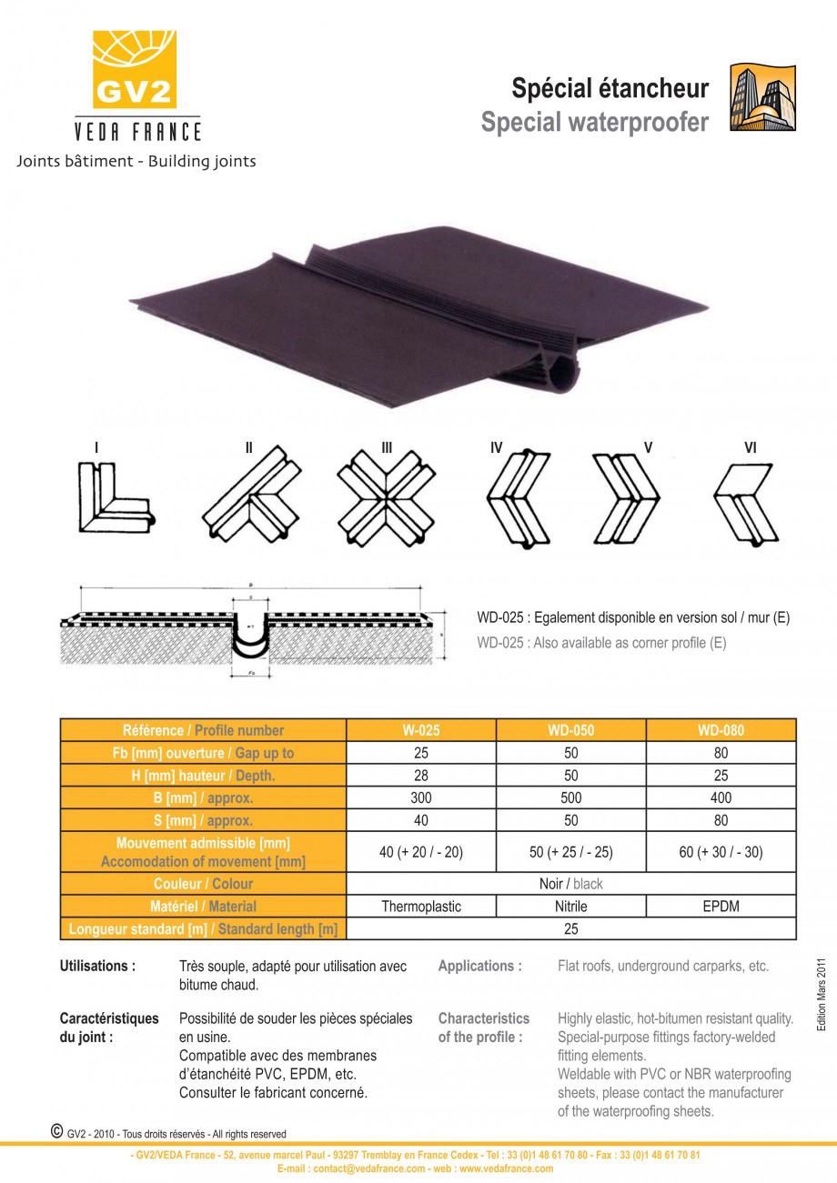 Pagina 2 - Profile de dilatatie pentru acoperis (calcane) VEDA Roof expansion joint Fisa tehnica...