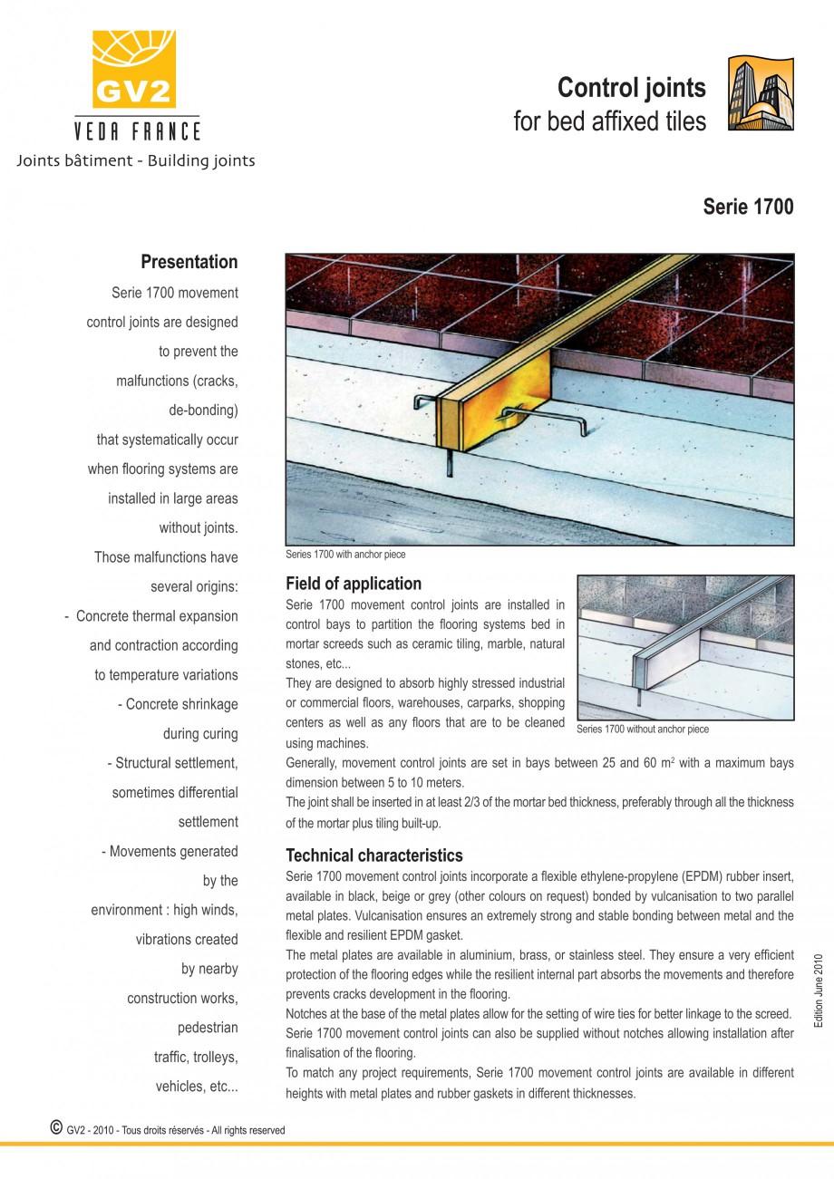 Pagina 3 - Profile de dilatatie pentru finisaje pardoseala VEDA Control joints and tile dividers...
