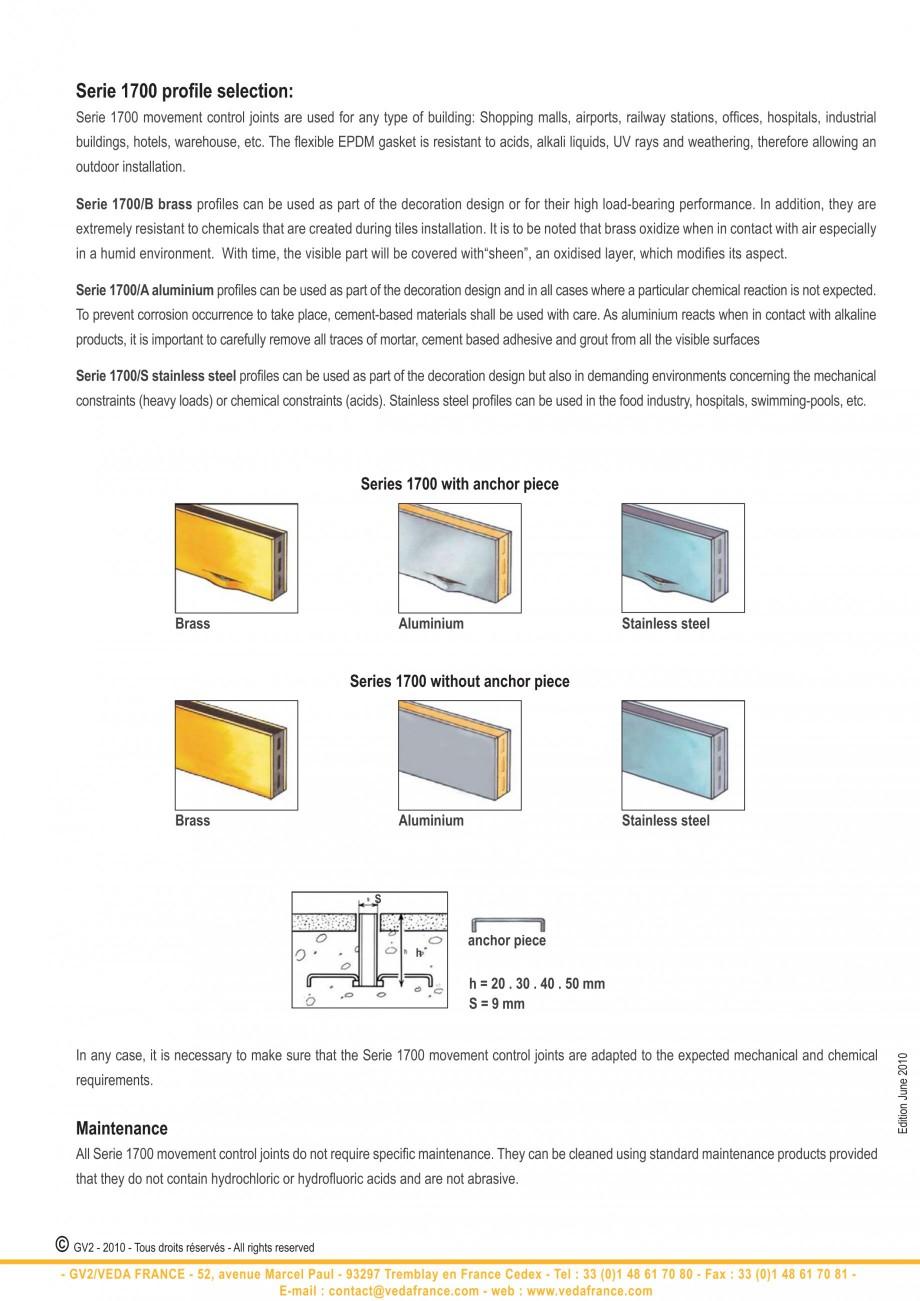 Pagina 4 - Profile de dilatatie pentru finisaje pardoseala VEDA Control joints and tile dividers...
