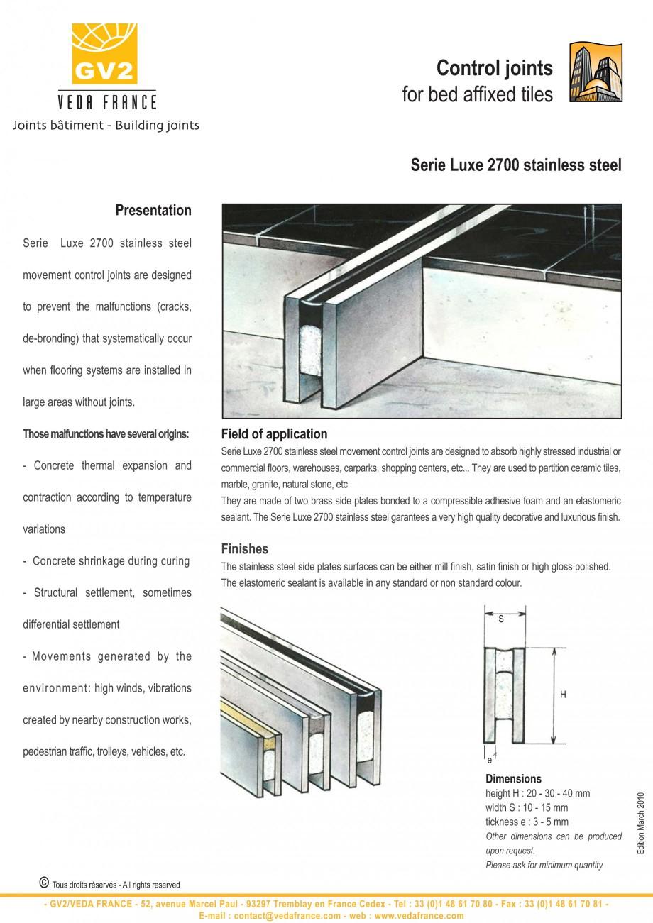 Pagina 6 - Profile de dilatatie pentru finisaje pardoseala VEDA Control joints and tile dividers...