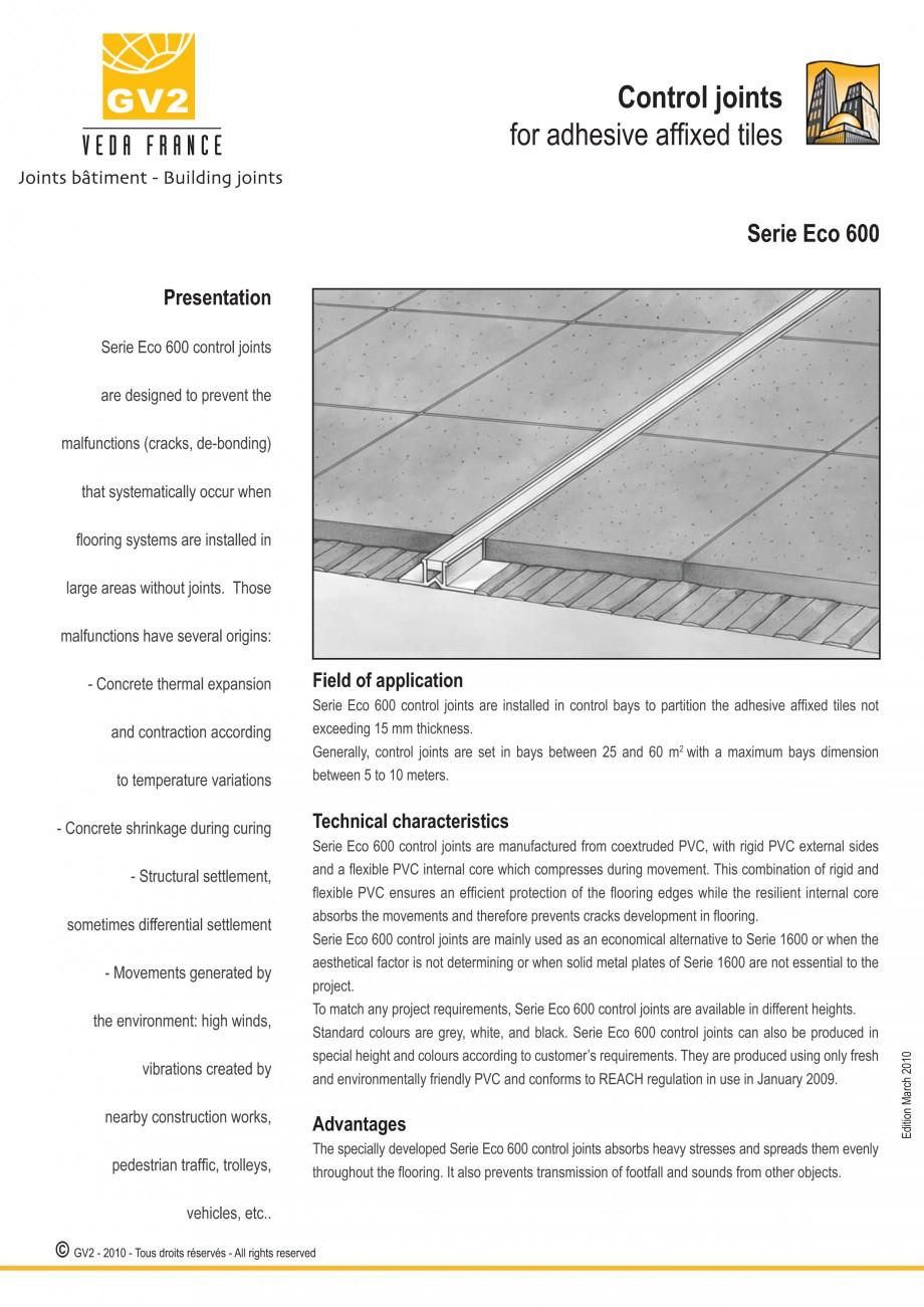 Pagina 9 - Profile de dilatatie pentru finisaje pardoseala VEDA Control joints and tile dividers...