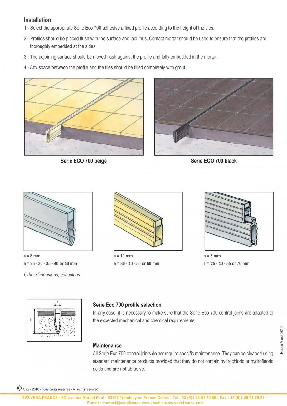 Pagina 12 - Profile de dilatatie pentru finisaje pardoseala VEDA Control joints and tile dividers...