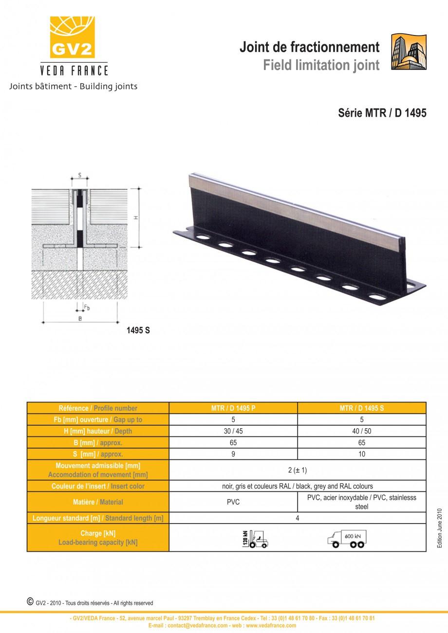 Pagina 13 - Profile de dilatatie pentru finisaje pardoseala VEDA Control joints and tile dividers...