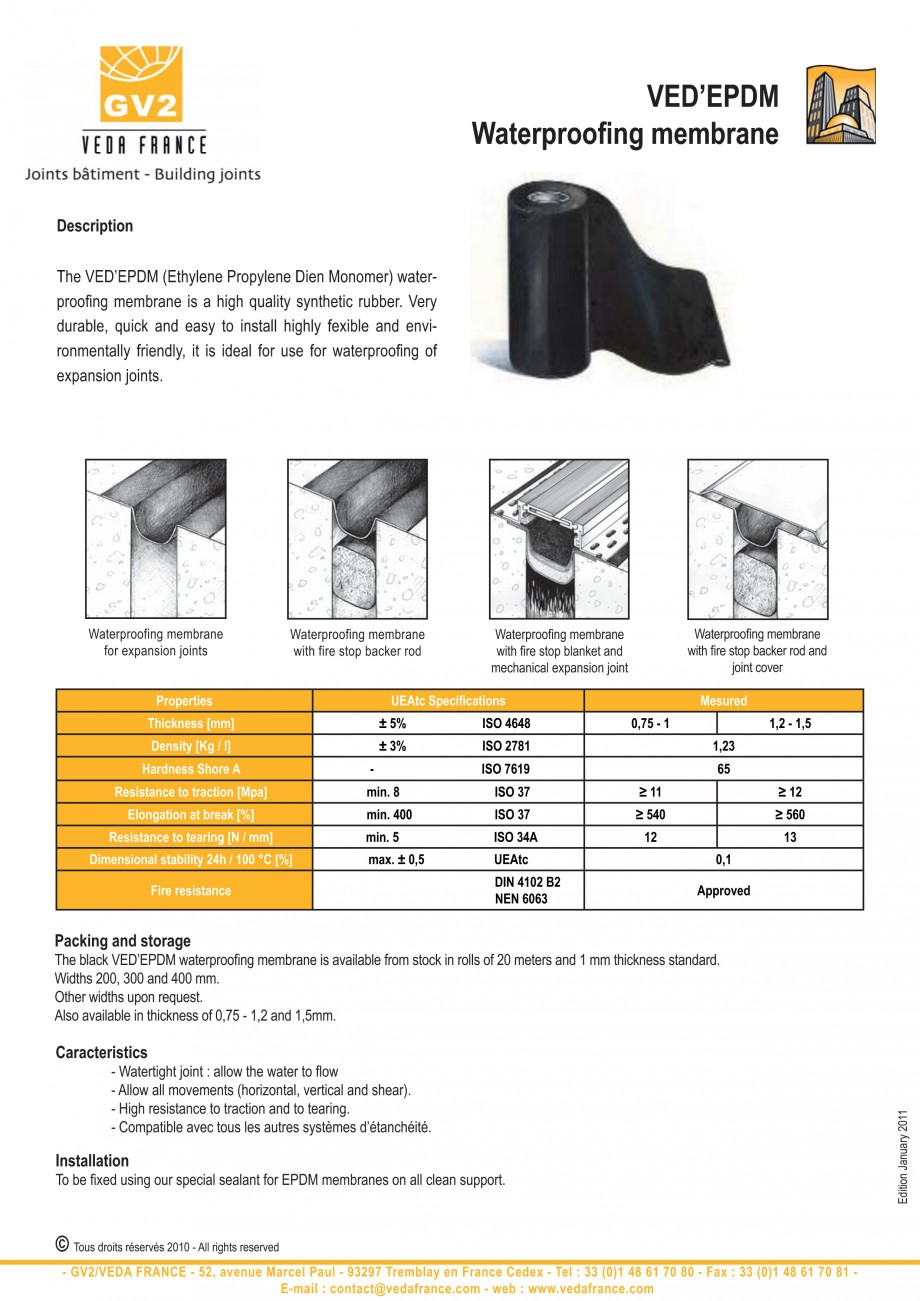 Pagina 2 - Ancore chimice pentru profile de dilatatie VEDA Accesories Accesorii Romana x: 1,5 ...