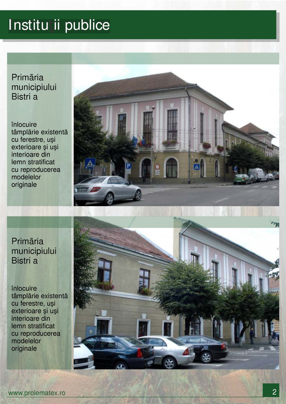 Pagina 3 - Ferestre din lemn stratificat PROLEMATEX Lucrari, proiecte Romana  Bistri a înlocuire...