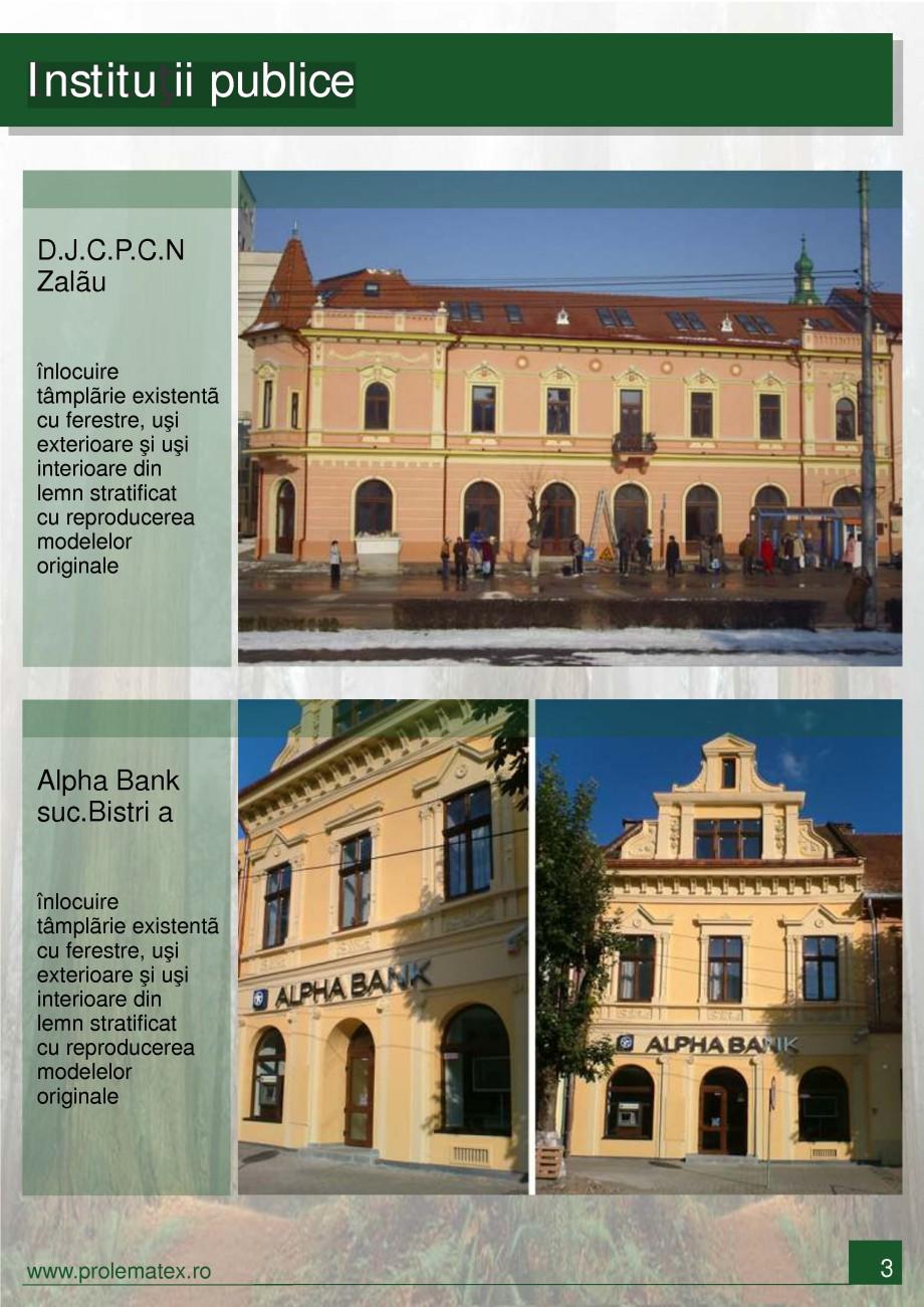Pagina 4 - Ferestre din lemn stratificat PROLEMATEX Lucrari, proiecte Romana tex Prodcom SRL. Orice ...
