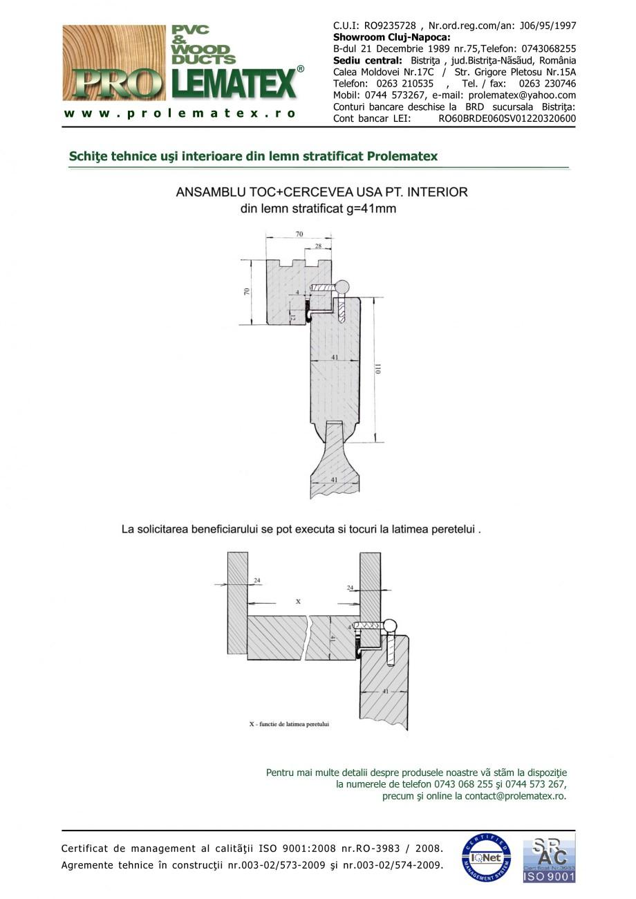 Pagina 2 - Usi de interior din lemn stratificat  PROLEMATEX Fisa tehnica Romana lemn stratificat...
