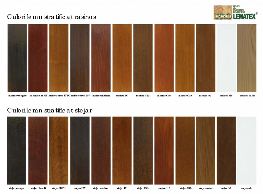Pagina 1 - Usi de exterior din lemn stratificat - nuante finisaj PROLEMATEX Catalog, brosura Romana ...