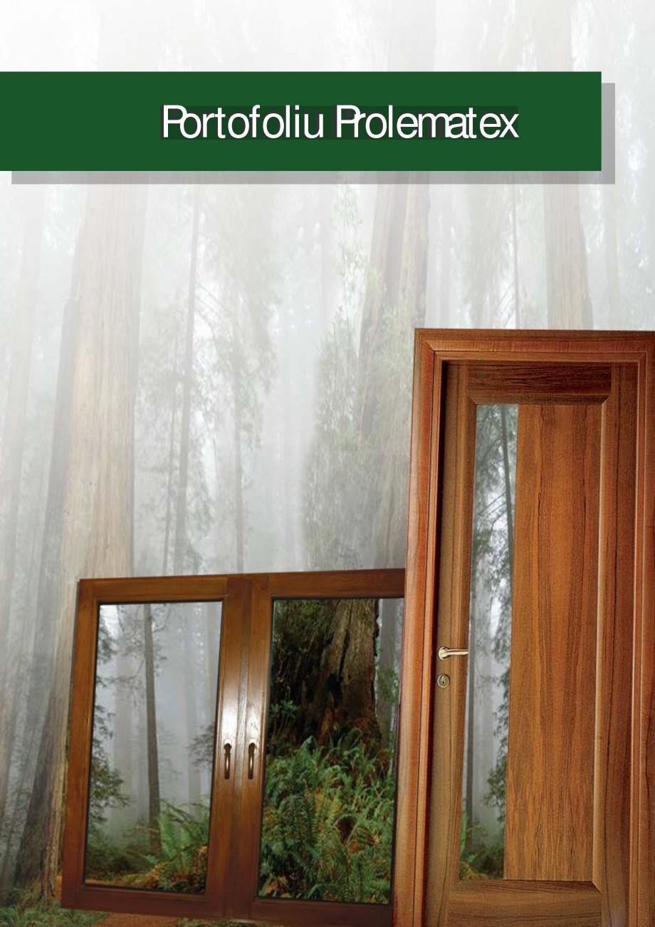 Pagina 1 - Usi de exterior din lemn stratificat  PROLEMATEX Lucrari, proiecte Romana Portofoliu...