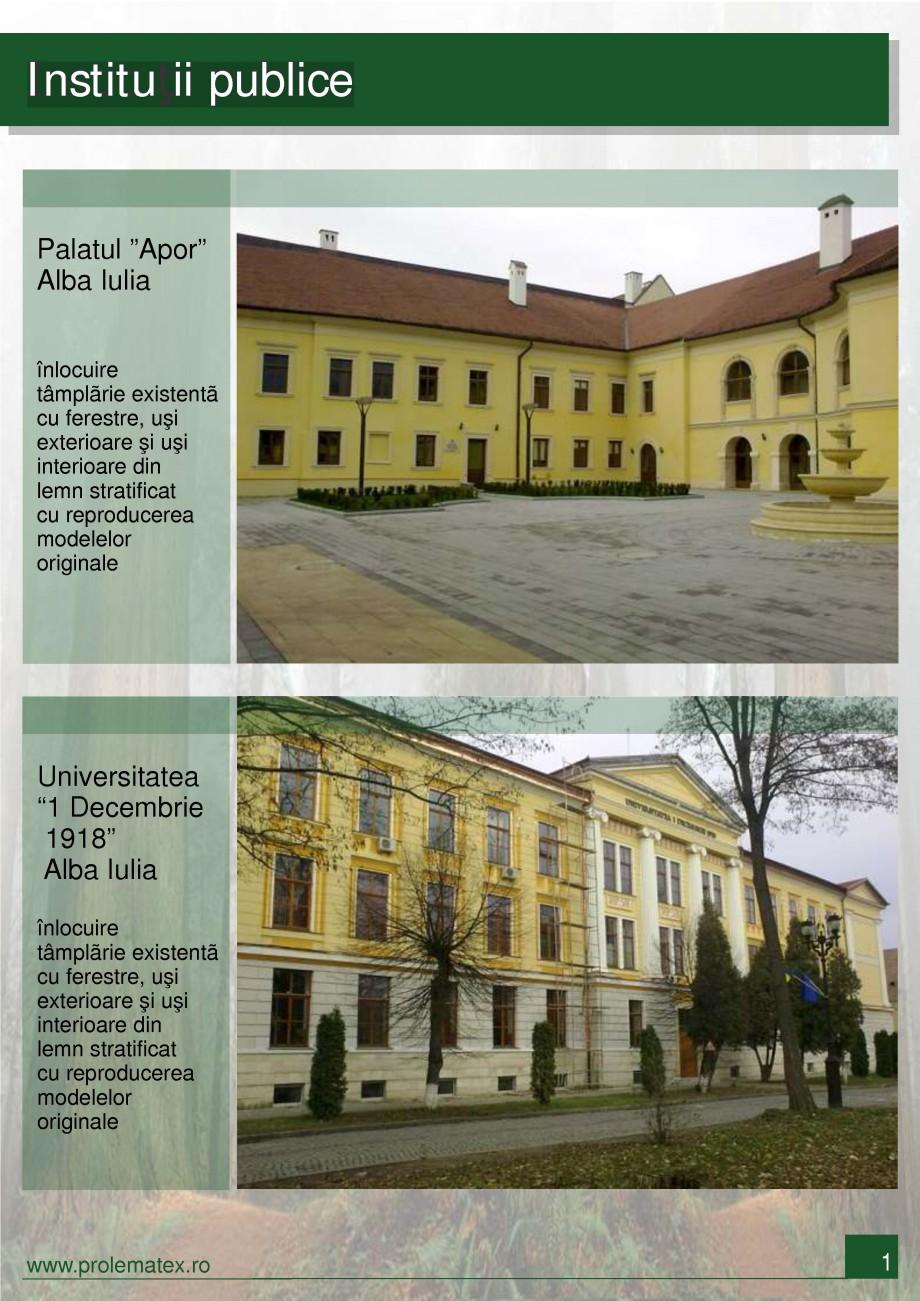 Pagina 2 - Usi de exterior din lemn stratificat  PROLEMATEX Lucrari, proiecte Romana a Bank suc...