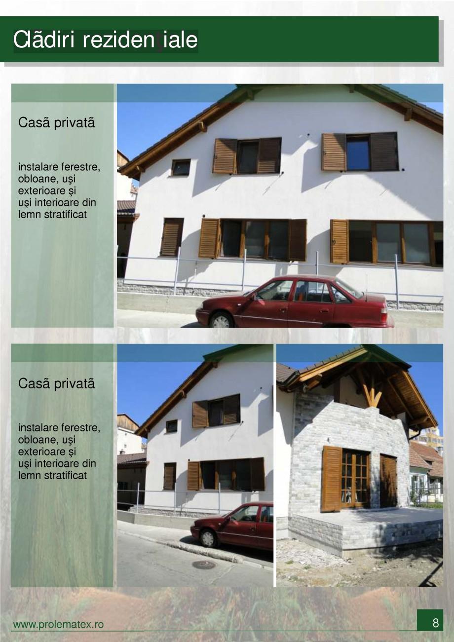 Pagina 9 - Usi de exterior din lemn stratificat  PROLEMATEX Lucrari, proiecte Romana