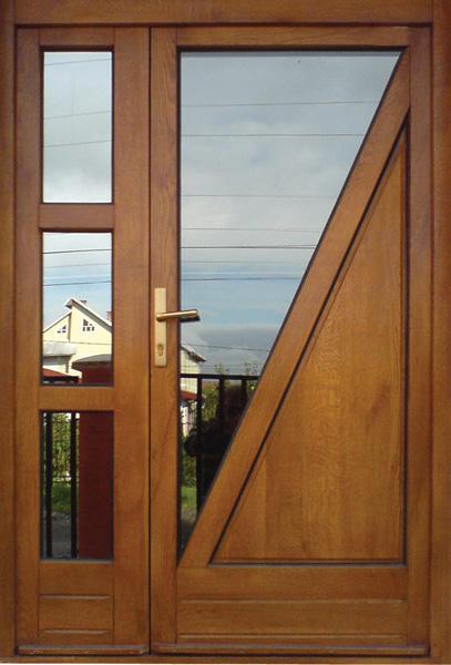 9 (usa exterioara intrare casa) Usi de exterior din lemn stratificat