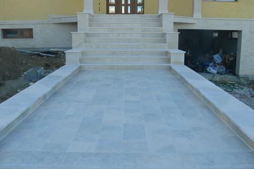 Lucrari, proiecte Trepte/Placaje din piatra naturala de Vistea LEVENTE COMPANIE - Poza 3