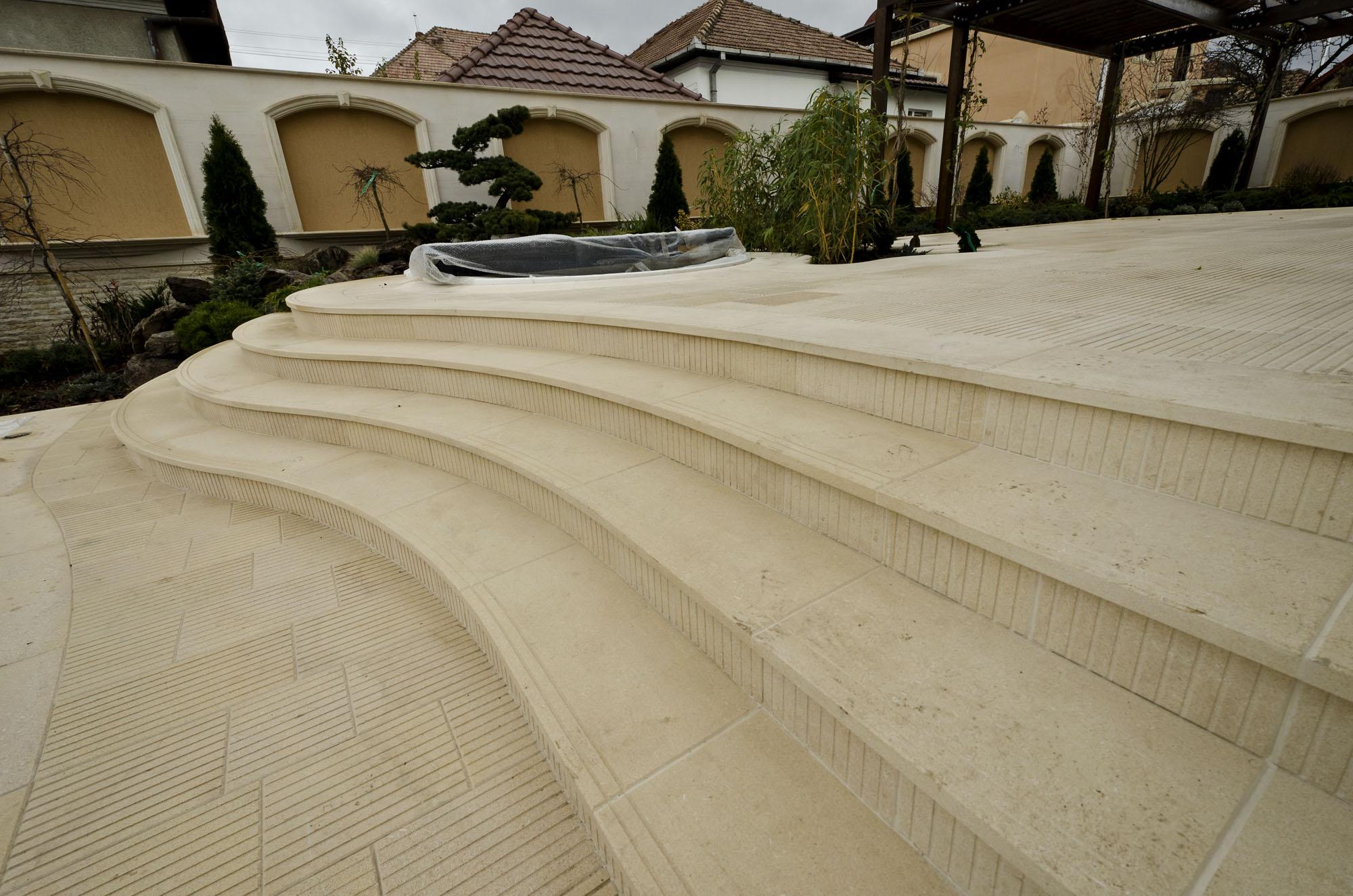 Trepte/Placaje din piatra naturala de Vistea LEVENTE COMPANIE - Poza 36