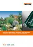 Structura de acoperis rezistenta la strapungere cu sisteme de acoperisuri cu vegetatie BAUDER