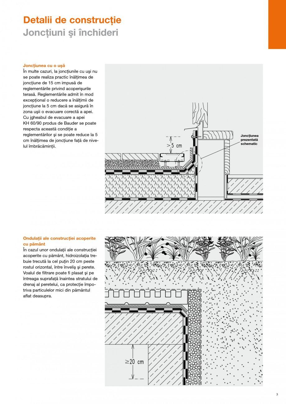 Pagina 4 - Detalii de constructie BAUDER Fisa tehnica Romana tecţie contra rădăcinilor. ...