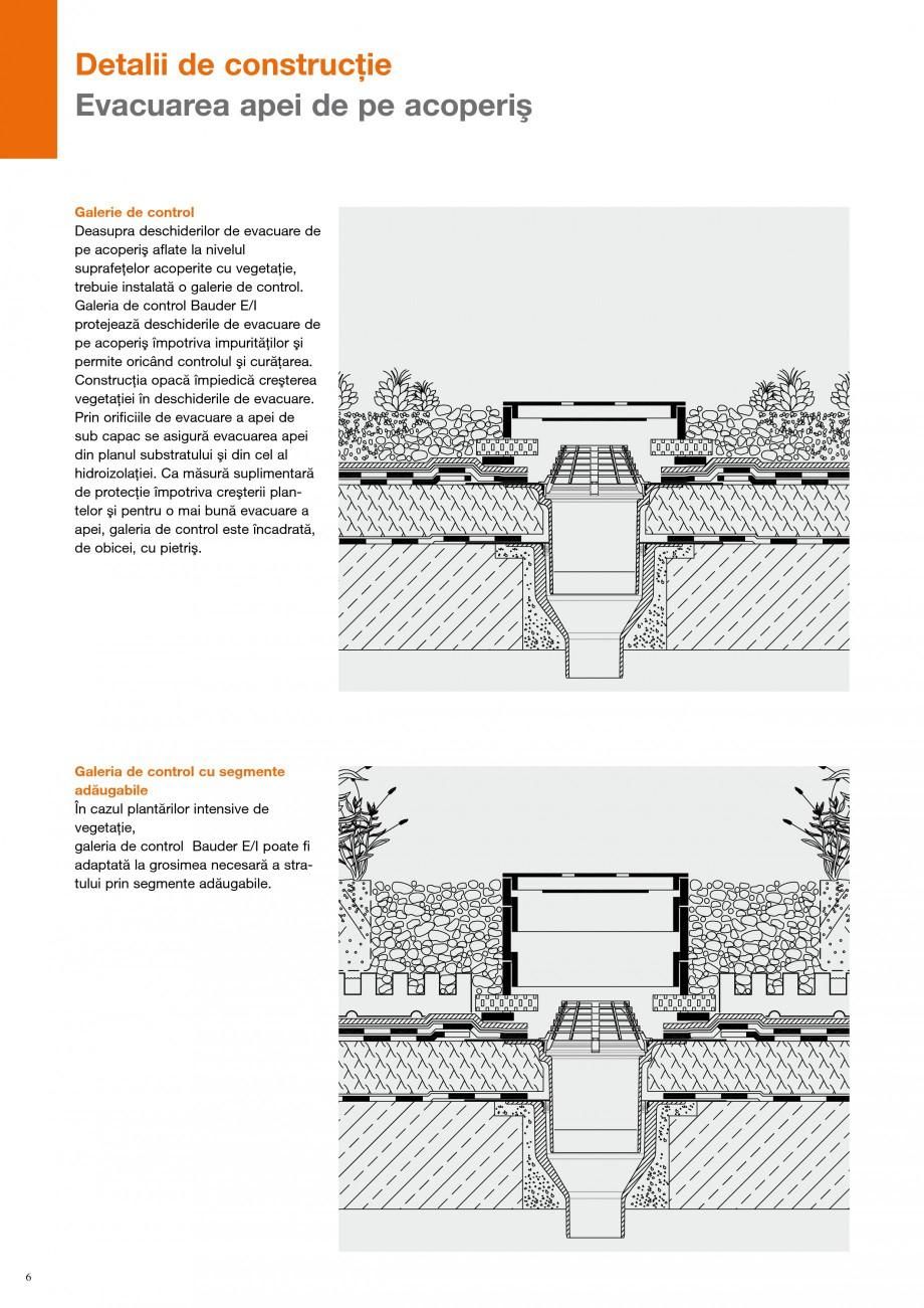 Pagina 5 - Detalii de constructie BAUDER Fisa tehnica Romana u umpluturii cu pietriş, aceste...